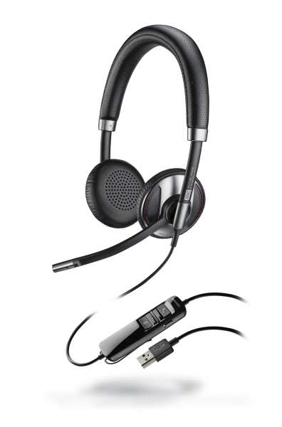 Poly Blackwire C725 USB-A ANC Duo NC Headset mit Active Noise Cancelling & CallControl