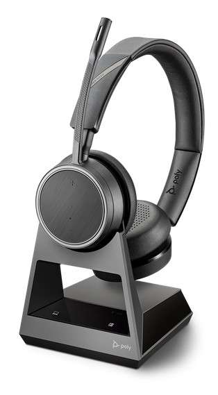 Poly Voyager 4220 Office USB-A 2-Way Base Duo Bluetooth NC Headset für Festnetz, PC Softphone und Mo
