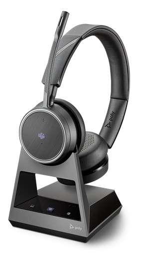 Poly Voyager 4220 Office MS Teams USB-A 2-Way Base Duo Bluetooth NC Headset für Festnetz, PC Softpho
