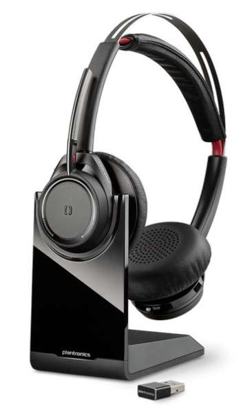 Poly B825 Voyager Focus UC Station Duo ANC Bluetooth NC Headset inkl. Ladestation & BT600 USB Dongle