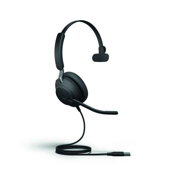 Jabra Evolve2 40 MS Teams Mono USB-A NC Headset mit PNC, Busylight & CallControl für Microsoft Teams