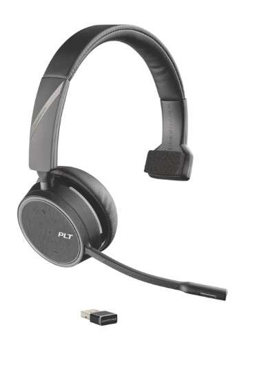Poly Voyager 4210 UC-M USB-A Mono Bluetooth NC Headset inkl. BT600 USB Dongle für PC Softphone/Mobil