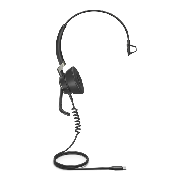 Jabra Engage 50 USB-C Mono Headset mit Super-Breitband-Audio und 3-Mikrofon-Technologie für PC Softp